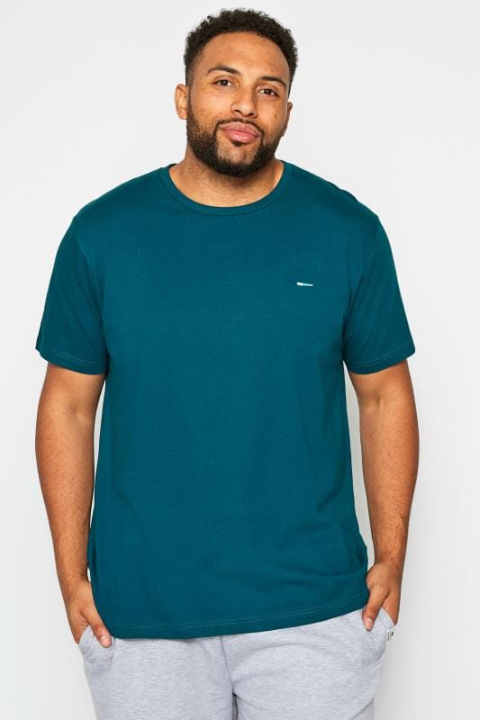 Plus Size T-Shirts BadRhino Green Crew Neck T-Shirt