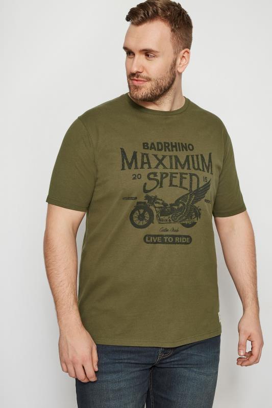BadRhino Green Motorbike T-Shirt