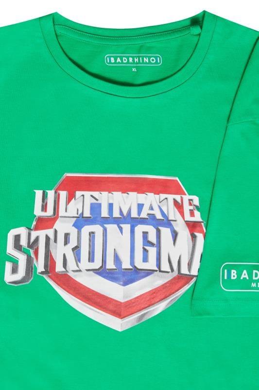 BadRhino Green 'Ultimate Strongman' T-Shirt