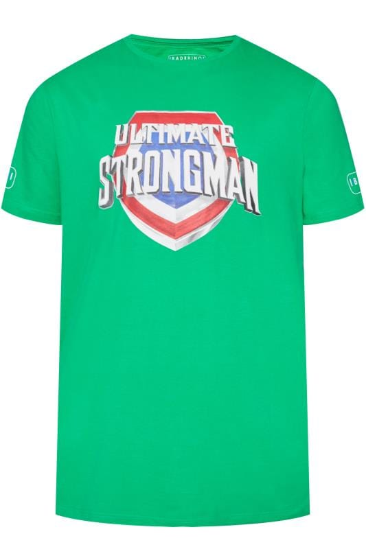 T-Shirts Tallas Grandes BadRhino Green 'Ultimate Strongman' T-Shirt