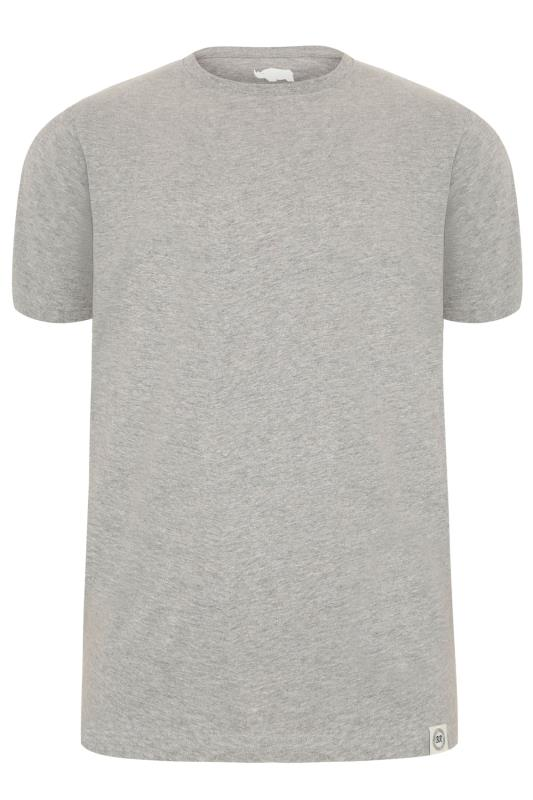 BadRhino Grey Crew Neck Basic T-Shirt