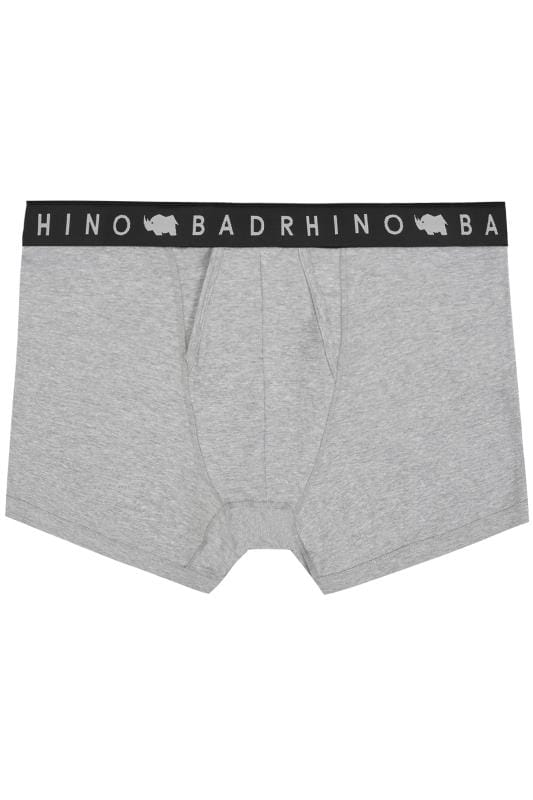 BadRhino Grey Elasticated A Front Boxers