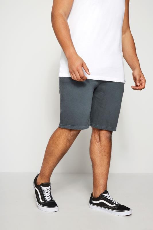 BadRhino Grey Jersey Shorts With Pockets & Logo Detail