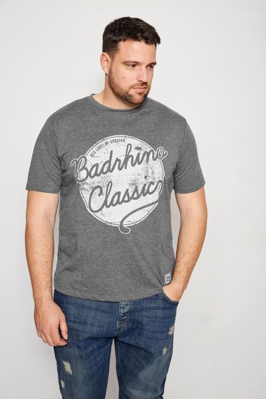 BadRhino Grey Logo Print T-Shirt