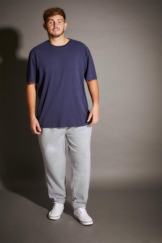 BadRhino Grey Marl Basic Sweat Joggers With Pockets