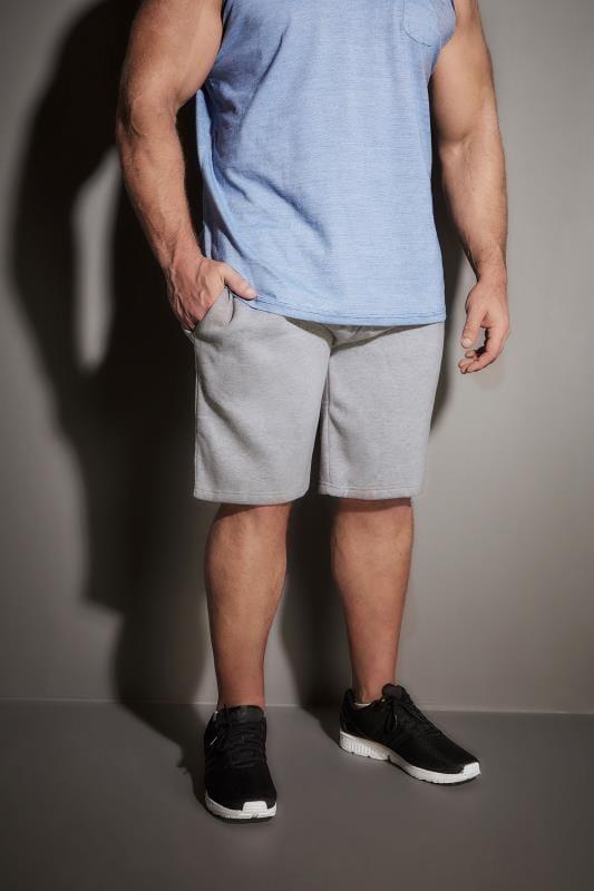 BadRhino Grey Marl Basic Sweat Shorts