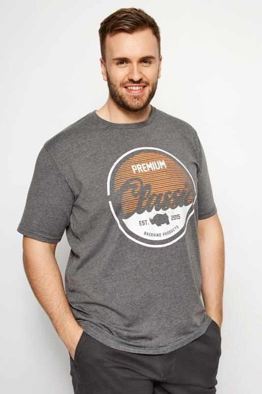 T-Shirts BadRhino Grey Marl 'Premium Classic' T-Shirt 200867