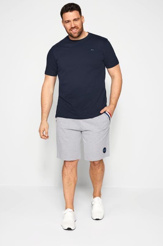 Plus Size Jogger Shorts BadRhino Grey Marl Tape Jogger Shorts
