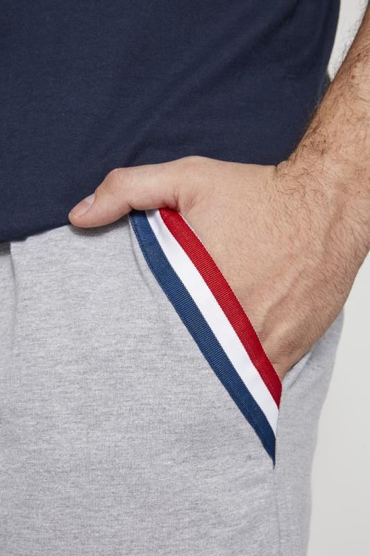 BadRhino Grey Marl Tape Jogger Shorts