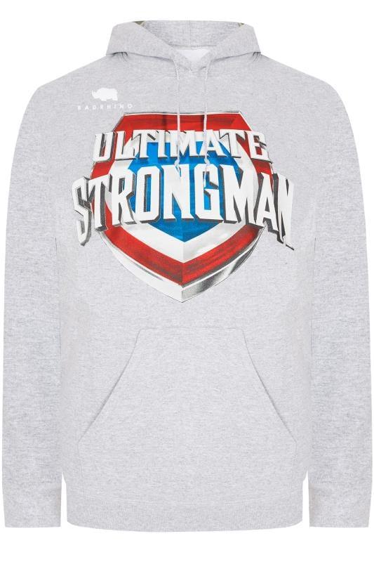 Hoodies BadRhino Grey 'Ultimate Strongman' Hoodie
