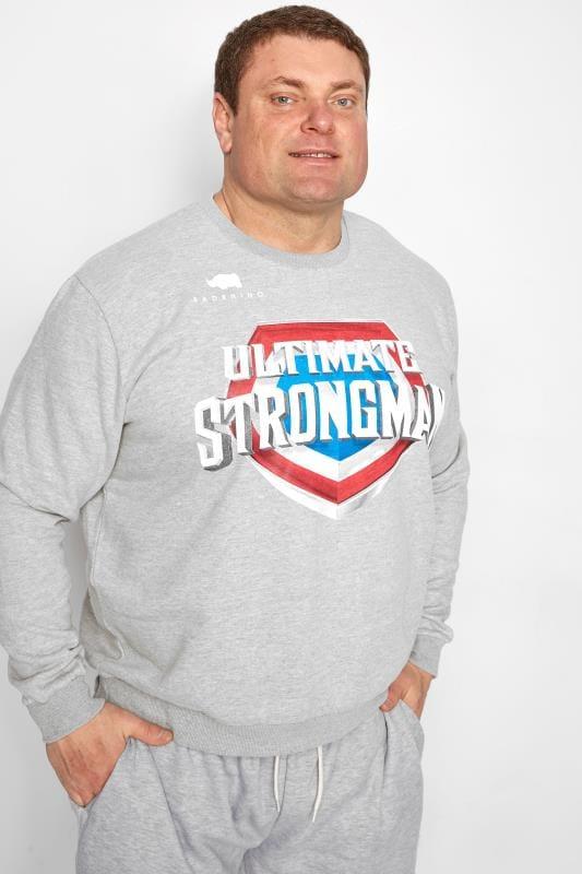 Plus Size Sweatshirts BadRhino Grey 'Ultimate Strongman' Sweatshirt