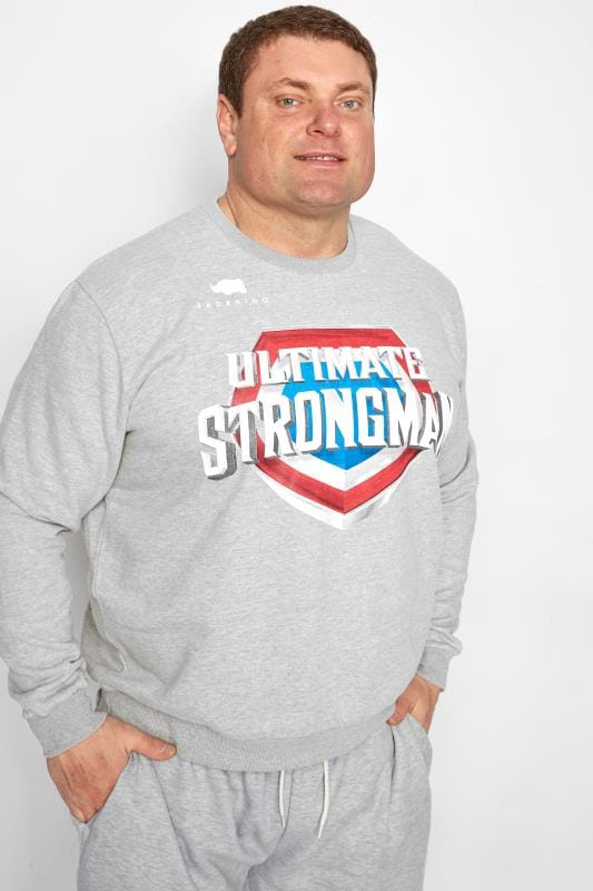 BadRhino Grey 'Ultimate Strongman' Sweatshirt