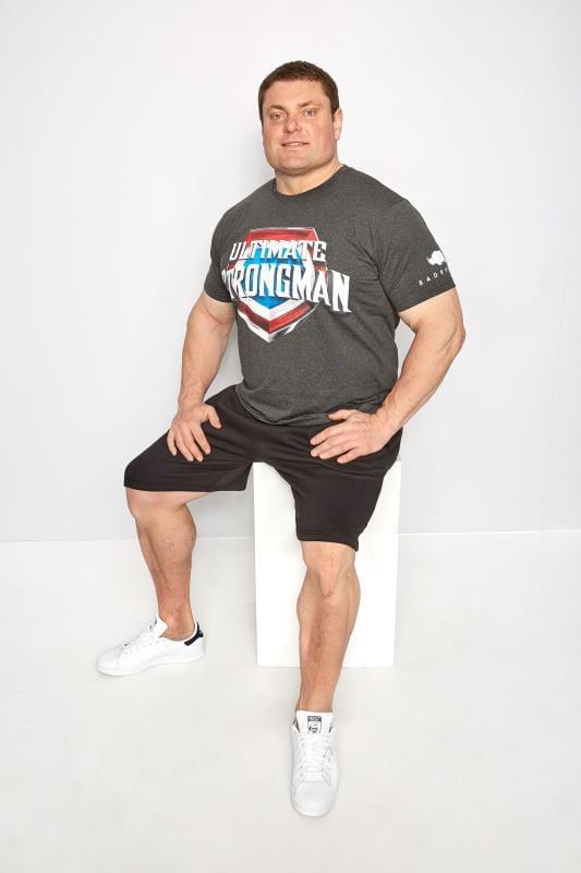 BadRhino Grey 'Ultimate Strongman' T-Shirt