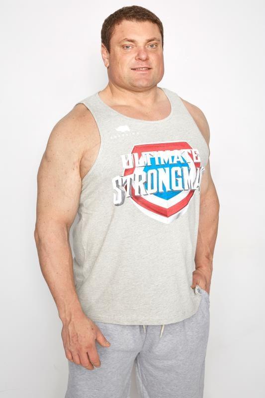 Plus Size Vests BadRhino Grey 'Ultimate Strongman' Vest Top