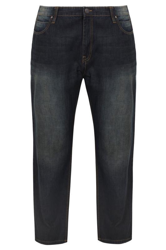 BadRhino Indigo Dark Wash Denim Straight Leg Jeans