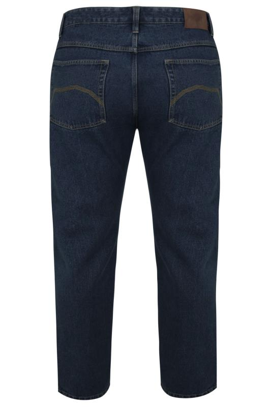 BadRhino Indigo Denim Straight Leg Stretch Jeans
