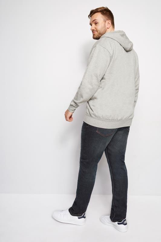 BadRhino Indigo Denim Vintage Wash Tapered Leg Jeans