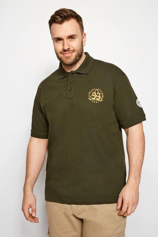BadRhino Khaki Logo Polo Shirt