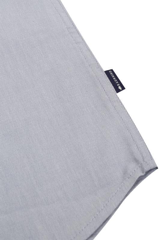 BadRhino Light Blue Cotton Long Sleeved Oxford Shirt