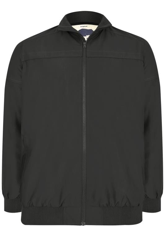 BadRhino Black Suedette Harrington Bomber Jacket