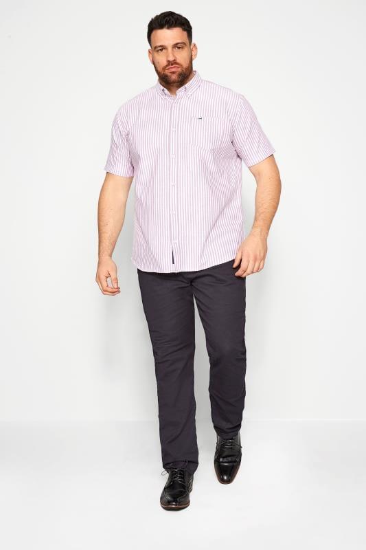 BadRhino Lilac Striped Short Sleeved Oxford Shirt_084d.jpg