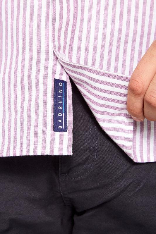 BadRhino Lilac Striped Short Sleeved Oxford Shirt_5ac9.jpg