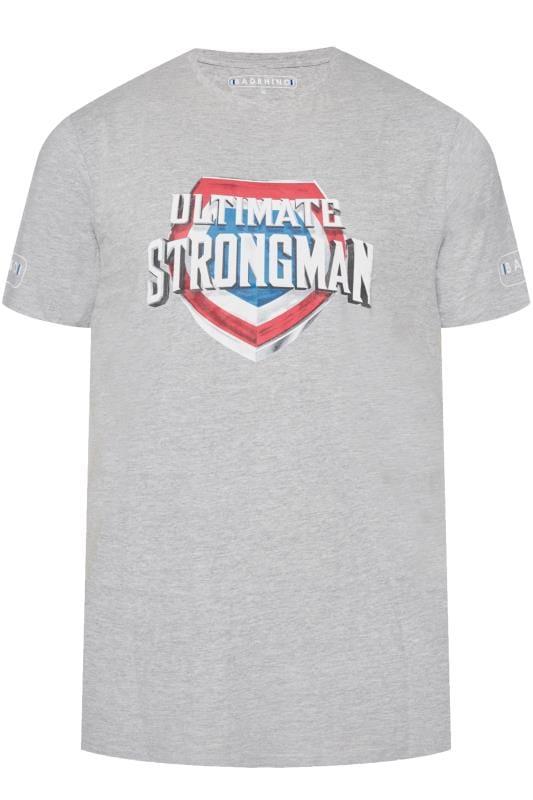 BadRhino Marl Grey 'Ultimate Strongman' T-Shirt