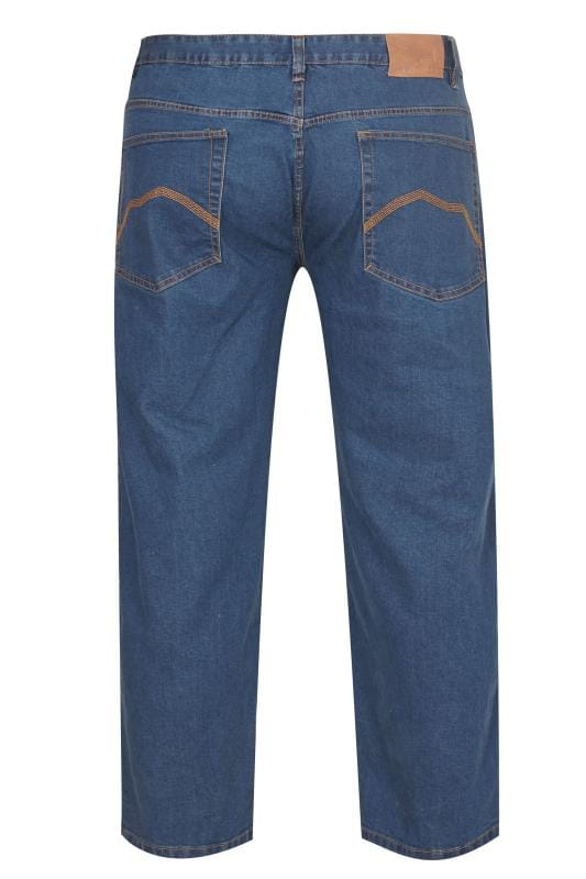 BadRhino Mid Blue Stretch Straight Leg Jeans
