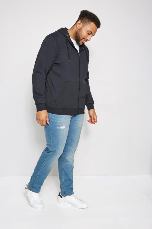 BadRhino Navy Basic Sweat Hoodie With Pockets