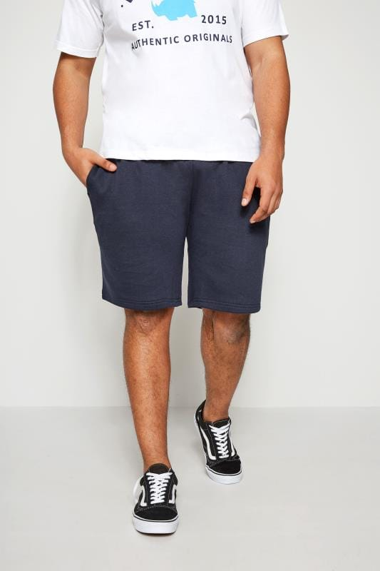 BadRhino Navy Basic Sweat Shorts