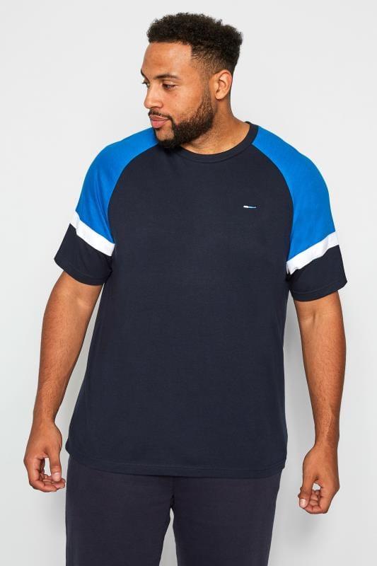 T-Shirts dla puszystych BadRhino Navy & Blue T-Shirt