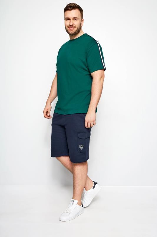 BadRhino Navy Cargo Jersey Shorts