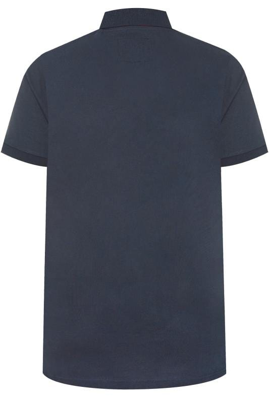 BadRhino Navy Colour Block Polo Shirt