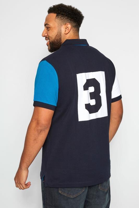 BadRhino Navy Pique Cotton Polo Shirt