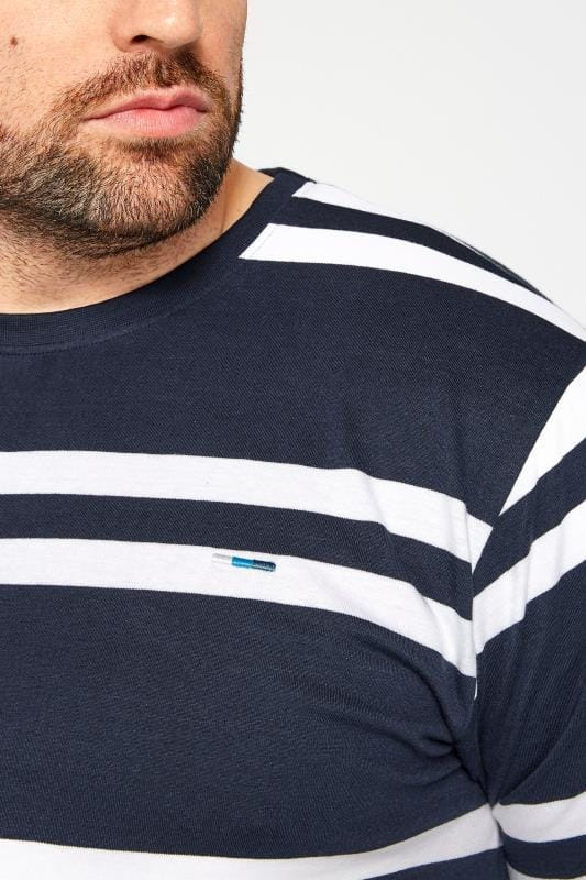 BadRhino Navy Double Stripe T-Shirt_529d.jpg