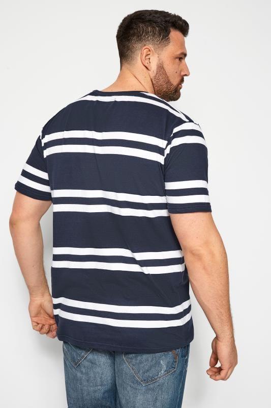 BadRhino Navy Double Stripe T-Shirt_a941.jpg
