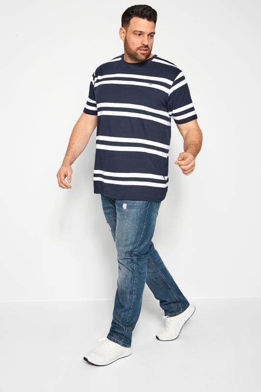 BadRhino Navy Double Stripe T-Shirt_b145.jpg