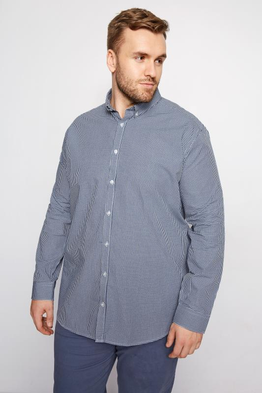 Smart Shirts BadRhino Navy Gingham Check Shirt 200955