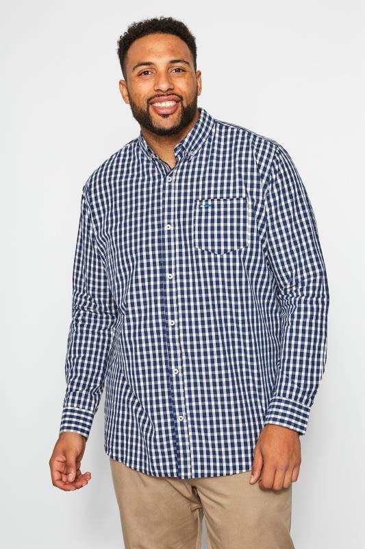 BadRhino Navy Gingham Check Shirt