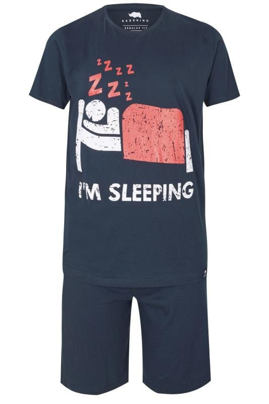 BadRhino Navy 'I'm Sleeping' Pyjama Set