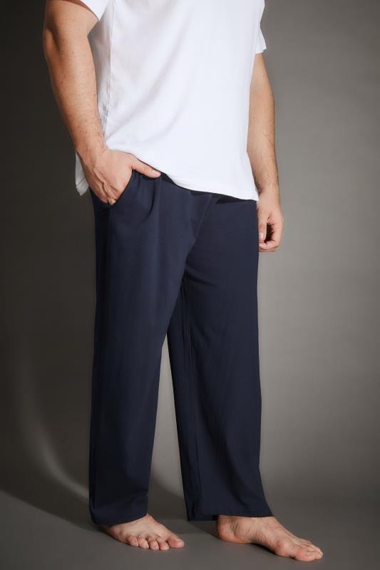 BadRhino Navy Jersey Pyjama Bottoms