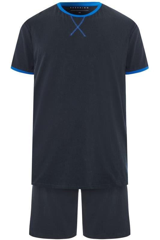 BadRhino Navy Jersey Pyjama Top & Shorts Set