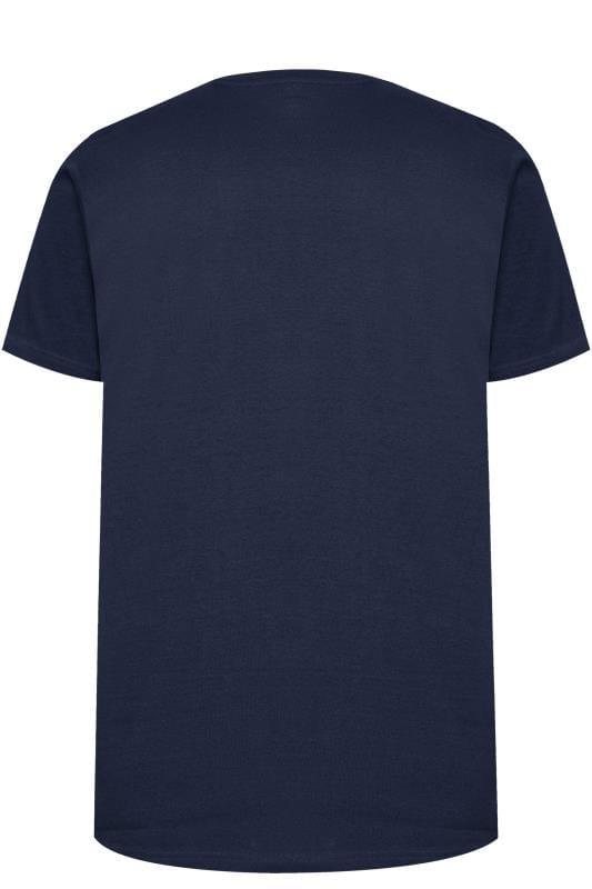 BadRhino Navy Las Vegas Slogan T-Shirt