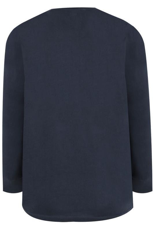 BadRhino langärmeliges Rundhals-T-Shirt - Navy