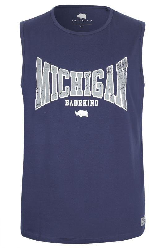 Vests Tallas Grandes BadRhino Navy 'Michigan' Muscle Vest