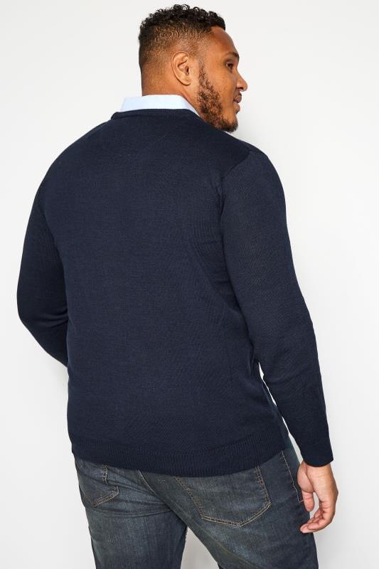 BadRhino Navy Mock Shirt Jumper