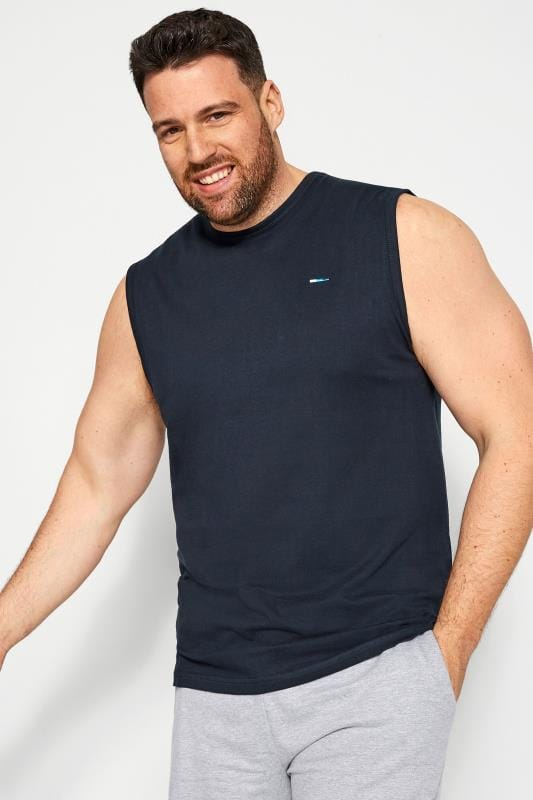 Plus Size Vests BadRhino Navy Muscle Vest