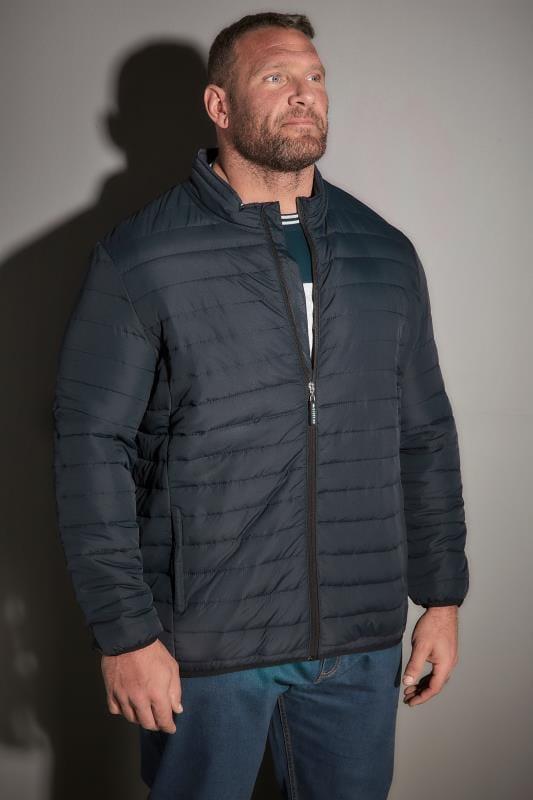 Plus Size Jackets BadRhino Navy Padded Jacket