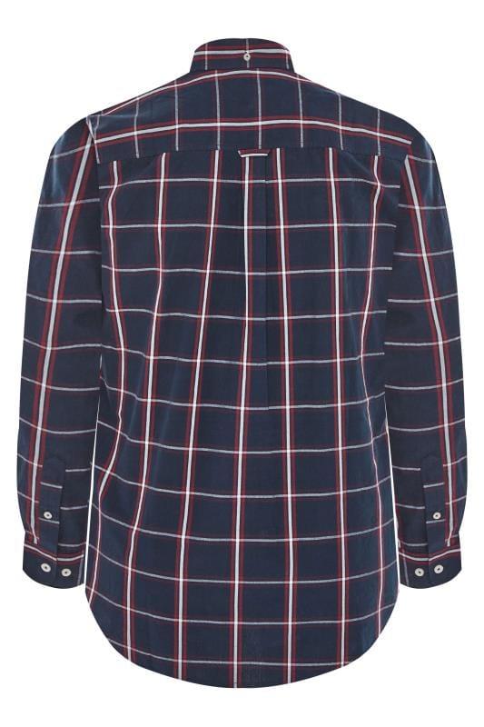 BadRhino Navy Peached Large Check Shirt
