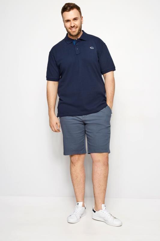 BadRhino Navy Premium Stretch Polo Shirt
